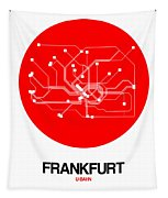 Frankfurt Red Subway Map Tapestry