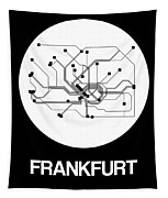 Frankfurt White Subway Map Tapestry