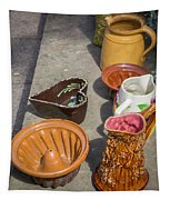 French Flea Market Pottery Tapestry