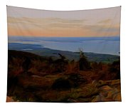 Frenchman's Bay From Cadillac Mountain Digital Photo Art Tapestry