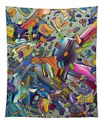 Frenzy Tapestry by James W Johnson