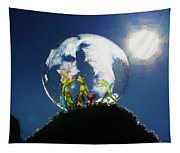 Frogs In A Bubble Tapestry