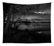 Full Moon Behind The Clouds Tapestry