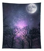 Full Moon Night Magic Tapestry