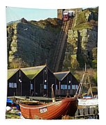 Funicular Railway East Cliff Hastings Tapestry