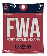 Fwa Fort Wayne Luggage Tag II Tapestry