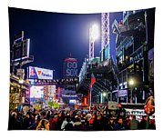 Game Night On Lansdowne Street 2018 World Series Red Sox Boston Ma Tapestry