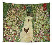 Garden With Chickens, 1916 Tapestry