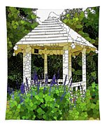 Gazebo In A Beautiful Public Garden Park 3 Tapestry