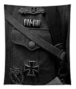 German Soldier Ww2 Black And White Tapestry