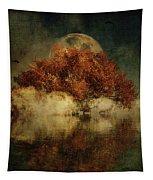 Giant Oak And Full Moon Tapestry by Jan Keteleer