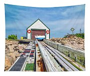 Goat Island Boat House Tapestry