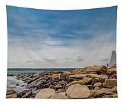 Goat Island Lighthouse Breath Of Fresh Air Tapestry