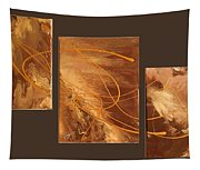 Wings Of Gold Brown Bckgrnd Tapestry