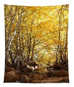 Golden Autumn Light Tapestry