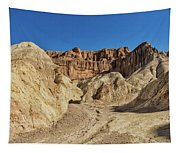 Golden Canyon's Red Cathedral Tapestry