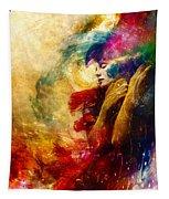 Golden Gloom Tapestry