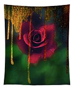 Golden Moments Of A Garden Rose Tapestry