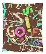 Golfing Print Press Tapestry