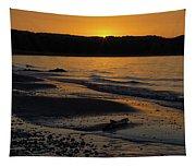 Good Harbor Bay Sunset Tapestry