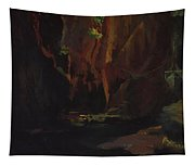 Gorge In The Mountains Of Carrara Tapestry
