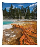 Grand Prismatic Spring Tapestry by Mae Wertz