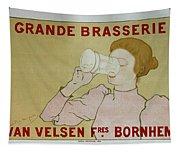 Grande Brasserie, 1894 Belgian Vintage Brewery Poster Tapestry