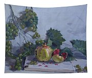 Grapes And Pomegranates Tapestry