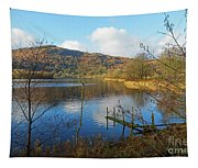 Grasmere In Late Autumn In Lake District National Park Cumbria Tapestry
