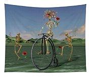 Grateful Dancing Cheer Skeletons Tapestry