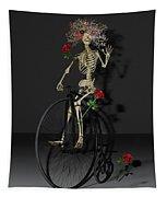 Grateful Penny Farthing Skeleton Tapestry