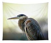 Great Blue Heron Portrait Tapestry