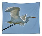 Great Egret, Yolo County California Tapestry