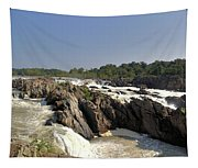 Great Falls On The Potomac Panorama  Tapestry