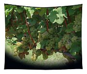 Green Grapes On The Vine 16 Tapestry