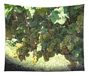 Green Grapes On The Vine 17 Tapestry