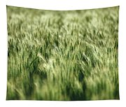 Green Growing Wheat Tapestry