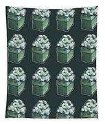 Green Present Pattern Tapestry