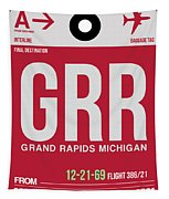 Grr Grand Rapids Luggage Tag II Tapestry
