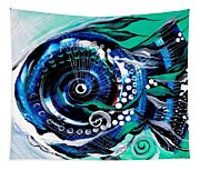 Half Smile Break The Ice Fish Tapestry