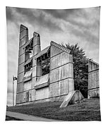 Halifax Explosion Memorial Bell Tower Bw Tapestry