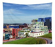 Halifax Town Clock And Halifax Skyline Tapestry