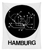 Hamburg Black Subway Map Tapestry