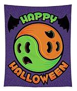 Happy Halloween Ghost Yin-yang Tapestry