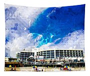 Hard Rock Beach Abstract Tapestry