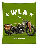Harley-davidson Wla 1942 Tapestry by Mark Rogan
