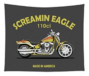 Harley Fxstsse Screamin Eagle Tapestry