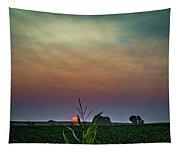 Hazy Summer Sunset Tapestry