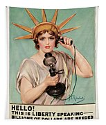 Hello This Is Liberty Speaking 1918 Tapestry