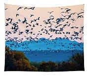Herd Of Snow Geese In Flight, Soccoro Tapestry
